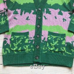 New Golf Wang Landscape Cardigan Green Wool Blend Size Medium M supreme box logo