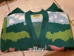 New Golf Wang Landscape Cardigan Green Wool Blend Size XL supreme box logo