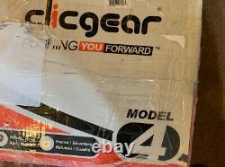 New In Box Clicgear Model 4.0 Golf Push Cart Silver