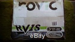 New In The Box Clicgear Rovic Rv1s-swivel 3 Wheel Charcoal Pull Push Golf Cart