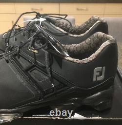 New With Box Footjoy 2020 Tour X Golf Shoes Black UK 10.5 Medium Fit RRP £159