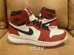 New in Box Air Jordan 1 Chicago Golf Shoes Size 10.5 White/Red/Black 917717-100