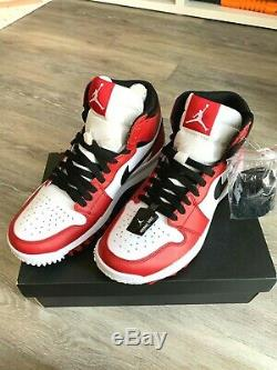 New in Box Air Jordan 1 Chicago Golf Shoes Size US 9.5 White/Red/Black 917717-10