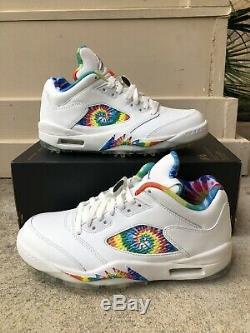 Nike AIR JORDAN V 5 Retro Low Golf Tie Dye NEW IN BOX Mens 8 CW4205-100
