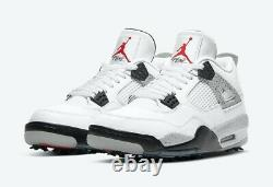 Nike Air Jordan 4 G Golf Retro White Cement Size 9 IN HAND SHIPS NOW New with Box