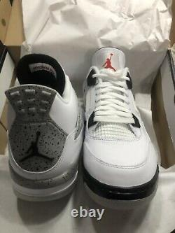 Nike Air Jordan 4 Golf Shoe Size 12 White Cement DS 100% Authentic New With Box