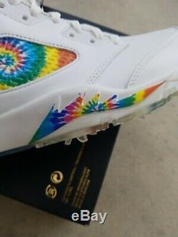 Nike Air Jordan 5 Low Golf White Tie Dye CW4205 100 NEW US Size 10.5 No Lid Box
