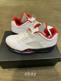 Nike Air Jordan V Low Golf Shoes Mens SIZE 8.5 Fire Red White New Still In Box