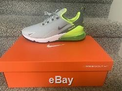 Nike Air Max 270 G Golf Shoes 11M Grey Fog/Smoke Grey-White NEW WITH BOX