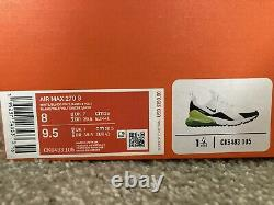 Nike Air Max 270 G Golf Shoes White Black Volt New with Box CK6483-105 Size 8