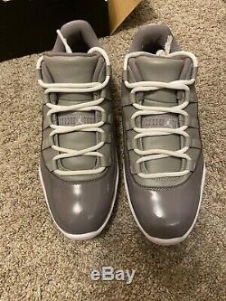 Nike Jordan 11 Cool Grey Golf Shoes NEW in Box size 7.5