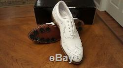 RARE! FOOTJOY CLASSICS MENS GOLF SHOES 56911 NEW witho BOX WHITE 9D Made in USA