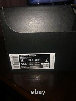 Size 12 Jordan 5 Low Golf Metallic 2020, New with box, Great look Better Feel