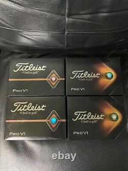 Titleist Pro V1 Golf Balls Brand New In Box 4 Dozen