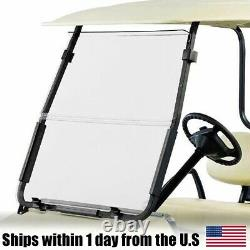 Windshield New In Box Golf Cart Folding Acrylic for Club Car DS Clear'00.5+